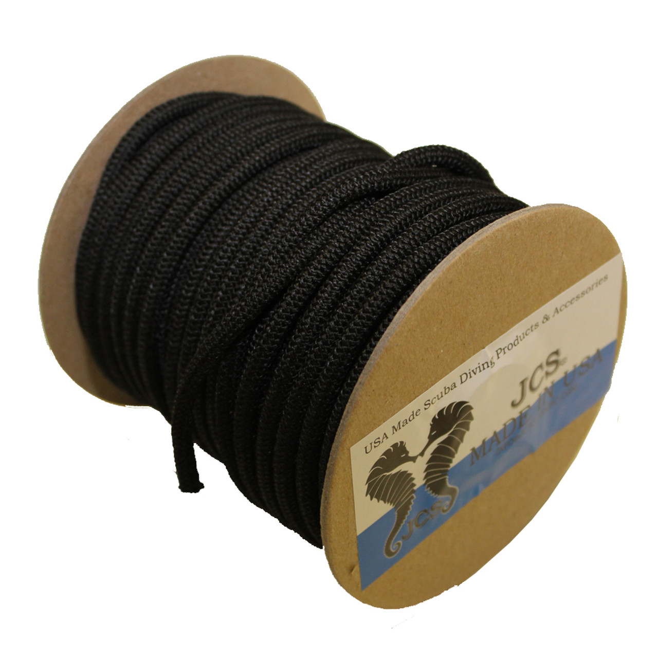 NeoStretch PP #4, 1/8inch x 100 Feet Slip-Resistant Textured Shock (Bungee) Cord, Black