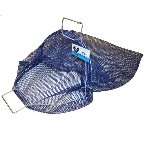 Large Uncoated Galvanized Wire Handle Mesh Catch Bag, Approx. 24inch x 28inch