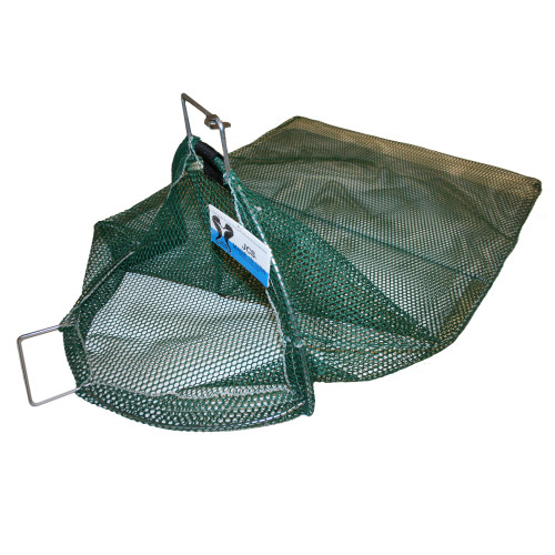 X-Large Uncoated Galvanized Wire Handle Mesh Catch Bag with D-Ring Approx. 24x33