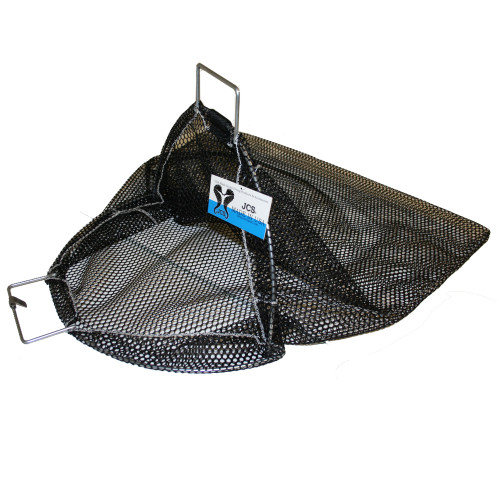 Galvanized Wire Handle Abalone Catch Bag with D-Ring, 24inch x 24inch, 16inch Opening