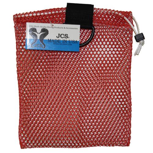 Nylon Mesh Drawstring Bag with D-Ring, Approx. 8x10