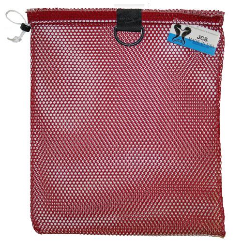 Nylon Mesh Drawstring Bag with D-Ring, Approx. 15x20