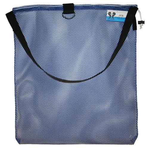 Medium Mesh Drawstring Tote Bag with Shoulder Strap & D-Ring. Approx. 17x30