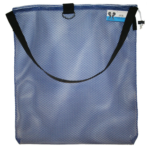 Large Mesh Drawstring Tote Bag with Shoulder Strap & D-Ring. Approx. 24x30