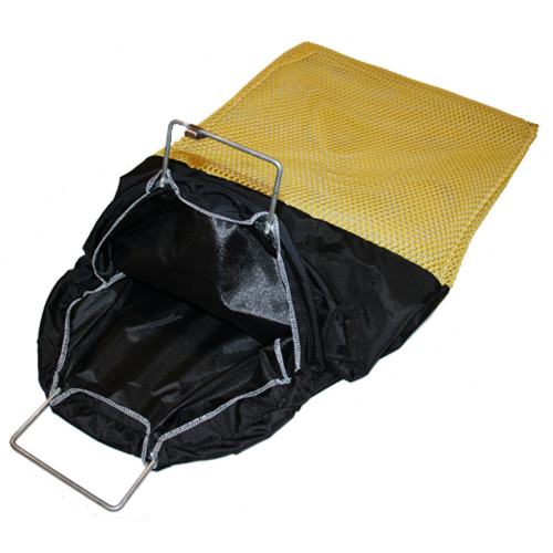 Galvanized Wire Handle Nylon (Bull) Bag, Medium, 16inch x 27inch