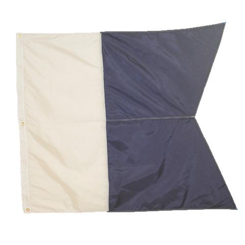 Nylon Alpha Flag, Slip on Style (31inch x 36inch, Blue & White Dive Flag)