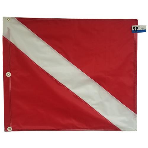 Nylon Scuba Flag for Boat, Slip on Style, 31x36