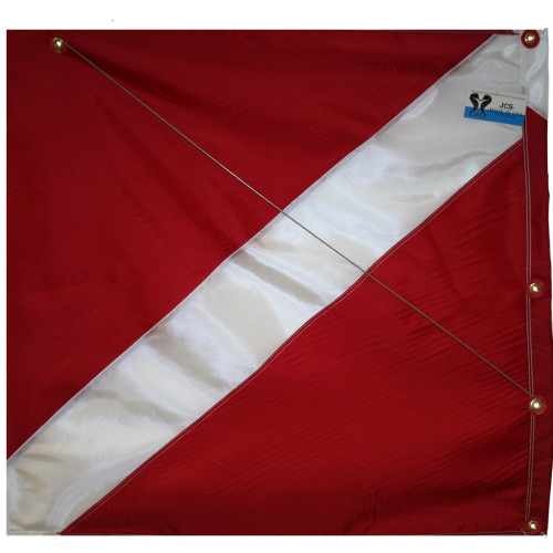 Nylon Dive Boat Flag with Steel Spring Wire Stiffener, 31x36