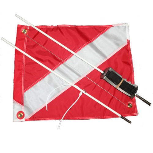 2pc. Dive Flag (14inch 18inch) & Mounting System (to be used with Nylon Float Cover, item #FL151)