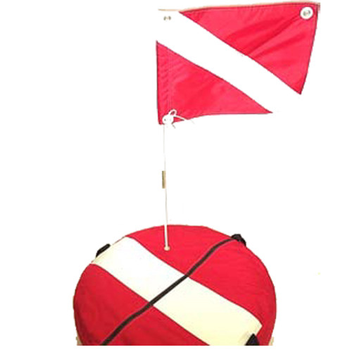 Complete Cordura Nylon Float Assembly. Includes Inner Tube & 14inch x 18inch Dive Flag & Staff