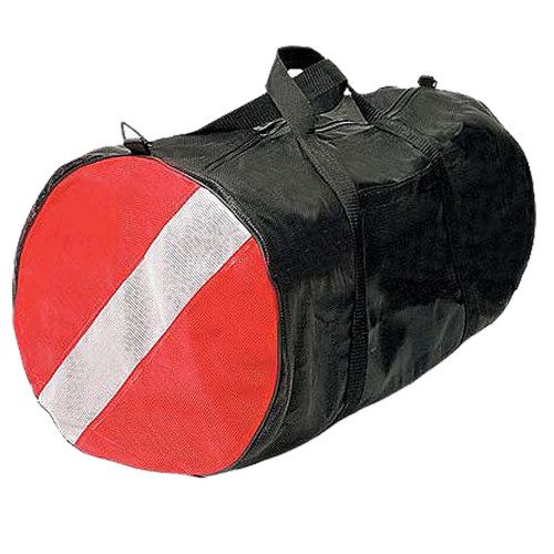 PVC & Cordura Nylon Diver Gear Bag, 30inch x 15inch, Black & Red