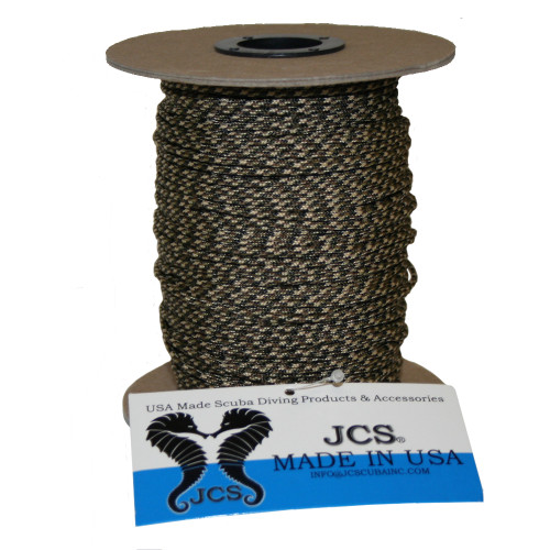 High Strength, No Stretch Kevlar Cord, Camouflage, Speargun Line, 325 Feet (100M) Spool