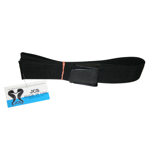 "1/8"" Thick, 100% Nylon Weight Belt Webbing with Delrin (Plastic) Buckle, 60"" Black"