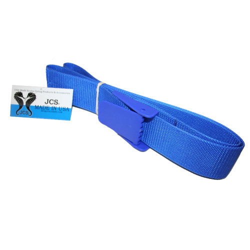"1/8"" Thick, 100% Nylon Weight Belt Webbing with Delrin (Plastic) Buckle, 60"" Blue"