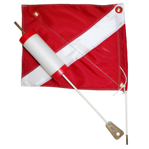 Dive float with 14x18 dive flag