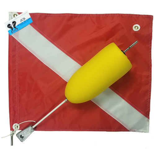 Yellow Super Float with Large 20x24 Nylon Dive Flag