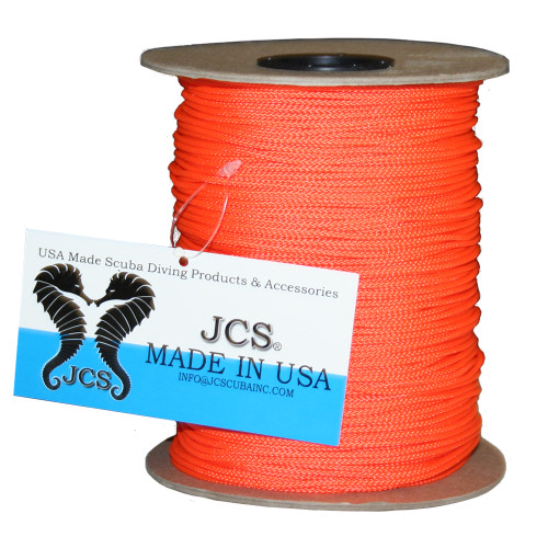 Orange #36 Nylon Braided Fishing Reel Line. 420 Feet