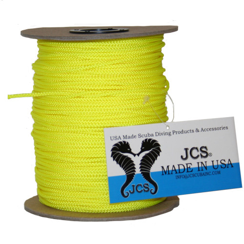 Yellow #36 Nylon Braided Fishing Reel Line. 420 Feet