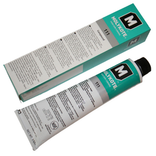 Water-resistant silicone compound for control, pressure plug, and faucet valves. Sealant for vacuum/pressure systems, outdoor meters, electrical system entrances, and underground connections. Provides non-curing, un-paintable moisture barrier.
