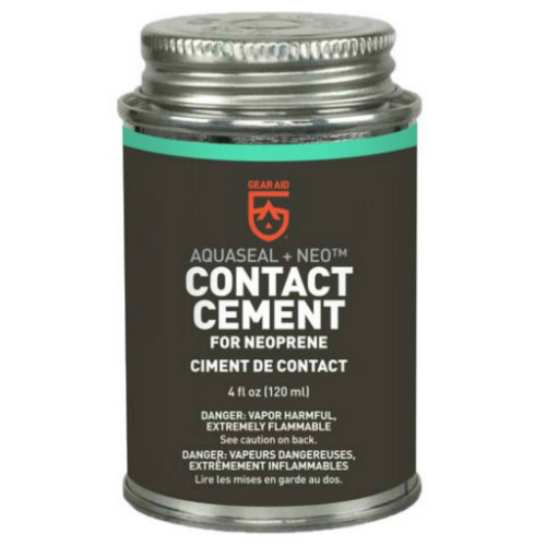 Aquaseal Contact Cement Neoprene Adhesive, Black, 4 oz. Can