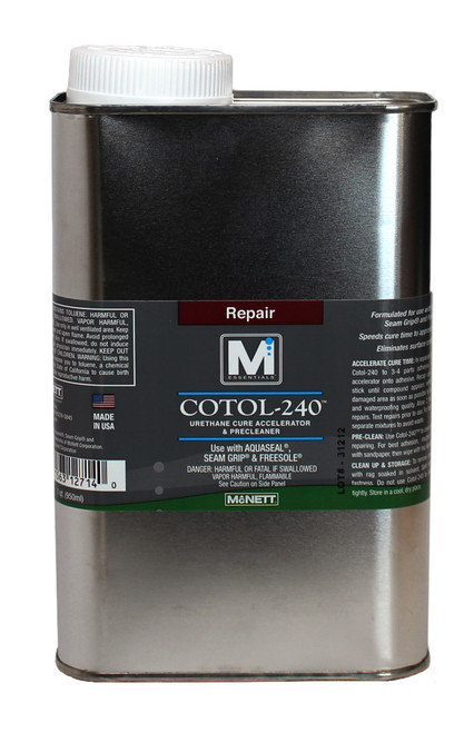 Cotol-240 Cleaner, 1 Quart. Urethane Cure Accelerator & Pre-Cleaner