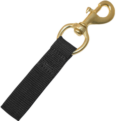#5, 4.25inch Marine Grade Brass Bolt Snap with Nylon Webbing Strap