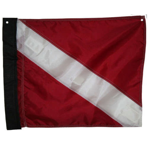 JCS Nylon Dive Flag with Velcro Side & Delrin (Plastic) Stiffener, 14x18