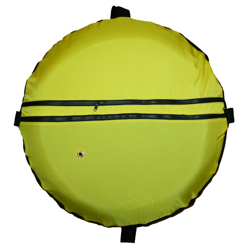Yellow Cordura Float Cover with Mesh Bottom (to be used with Inner Tube, item# FL152)