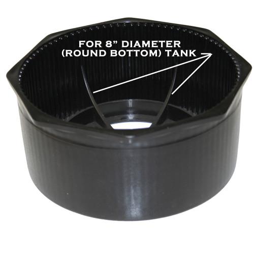 8inch Diameter, Round Bottom, Rigid, Hex Rim Tank Boot