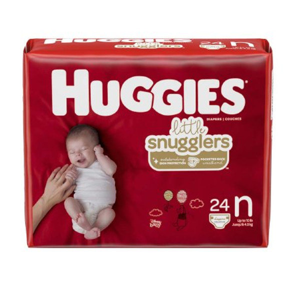Unisex Baby Diaper Huggies® Little Snugglers Newborn Disposable Heavy Absorbency, PK/24