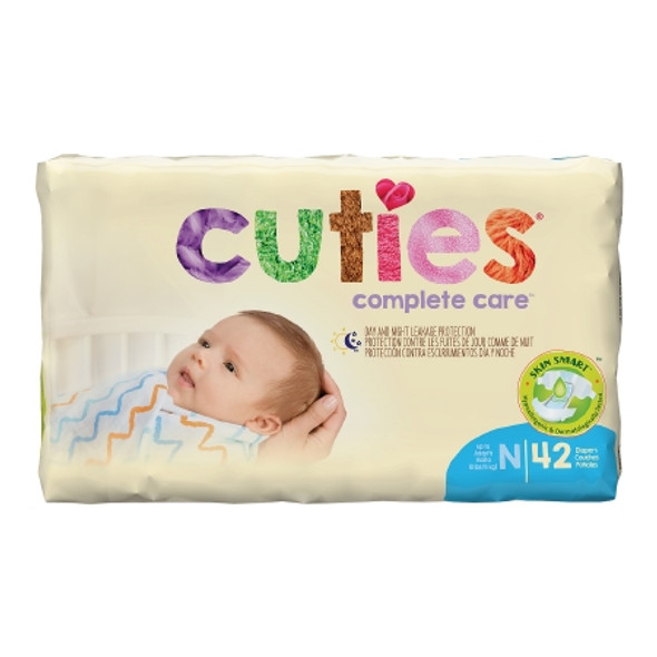 Unisex Baby Diaper Cuties® Size  Disposable Heavy Absorbency