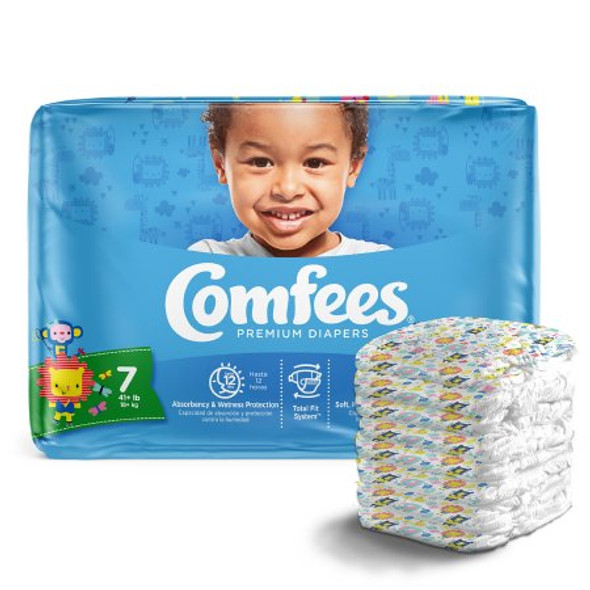 Unisex Baby Diaper Comfees®  Disposable Moderate Absorbency