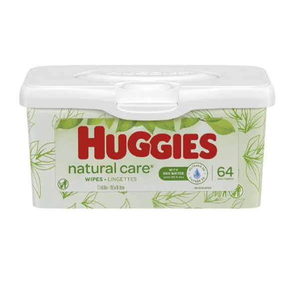 256 count Baby Wipe Huggies® Natural Care® Tub Aloe Unscented