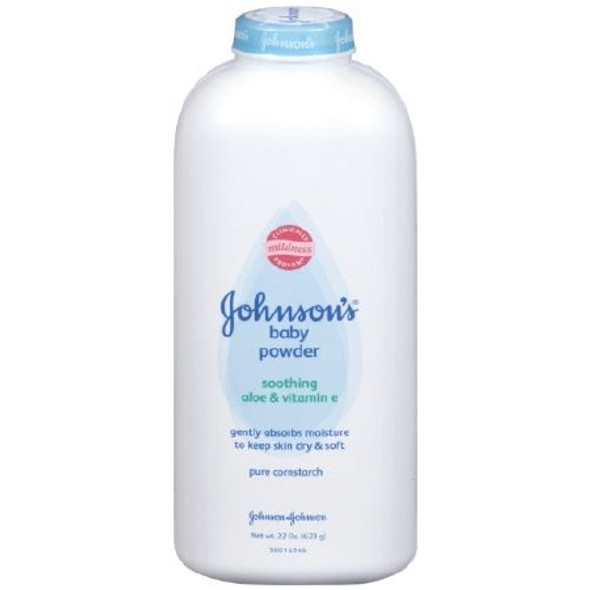 Baby Powder Johnson's® 15 oz. Fresh Scent Bottle With Dispensing Cap Cornstarch / Aloe / Vitamin E
