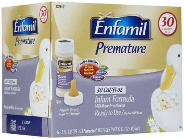 Infant Formula Enfamil® Premature 30 Cal 2 oz. Nursette Bottle Ready to Use