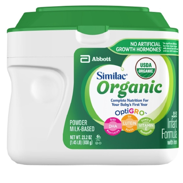 Infant Formula Similac® Organic with Iron 23.2 oz. Canister Powder