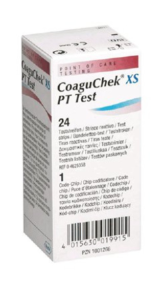 Coagulation Test Strip CoaguChek® XS TEST STRIP, COAGUCHEK XS PT 24CT