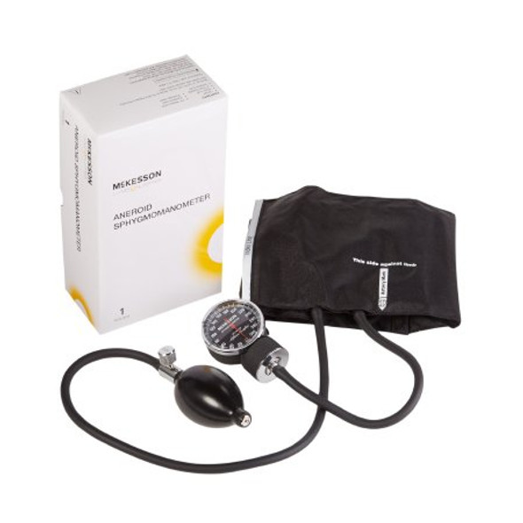 Aneroid Sphygmomanometer with Cuff McKesson LUMEON™ 2-Tube Pocket Size Hand Held Adult Medium Cuff