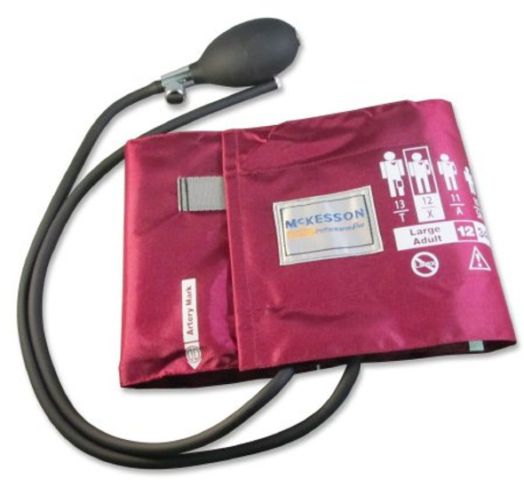 Blood Pressure Cuff and Bulb McKesson LUMEON™ Adult Arm Large Cuff 34 - 50 cm Nylon Cuff