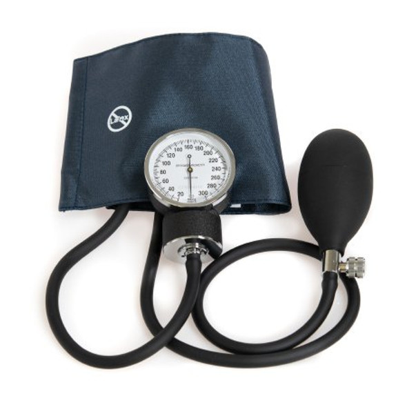 Aneroid Sphygmomanometer with Cuff McKesson Brand 2-Tube Pocket Size Hand Held Small Adult / Child Small Cuff