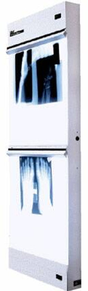 X-Ray Illuminator Trimline Basic 1 Bank 1 Tier 2 Lamp 15 W Wall Mount 3-1/4 X 14 X 22 Inch White One, 14 X 17 Inch Film