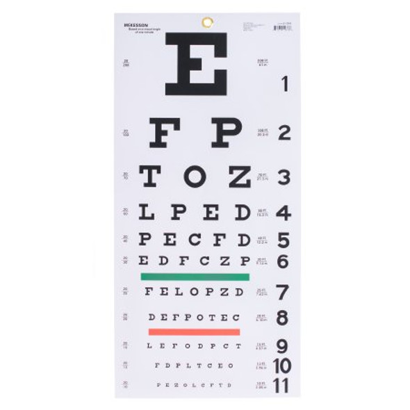 Eye Chart McKesson 20 Foot Measurement Acuity Test