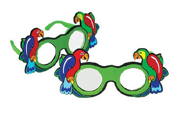 Parrot Fun Occluder Glasses Spectacle Style Frosted Multicolor