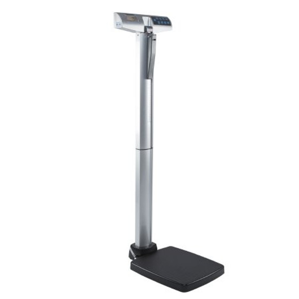 Column Scale with Height Rod Health O Meter® Digital Display 550 lbs. Capacity Black / Gray AC Adapter / Battery Operated