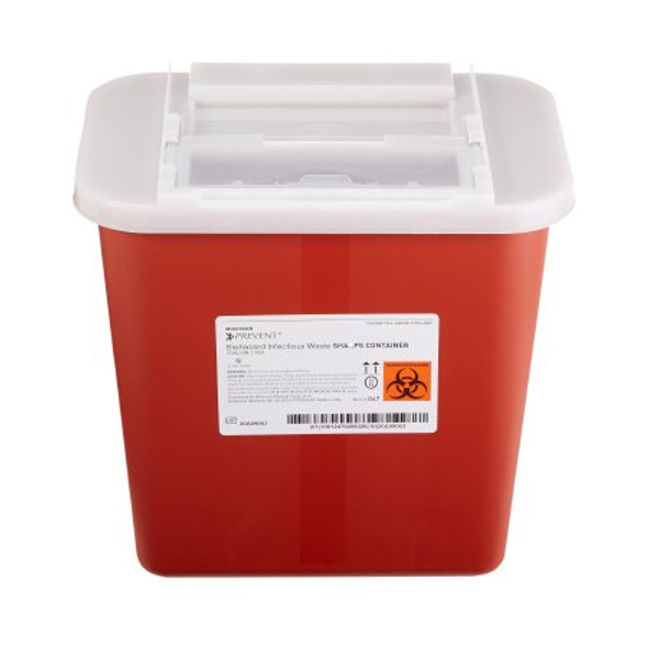 Sharps Container McKesson Prevent® 10-1/4 H X 7 W X 10-1/2 D Inch 2 Gallon Red