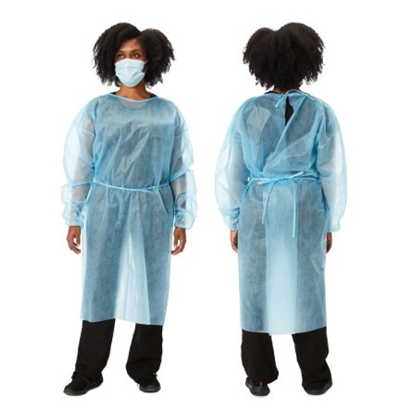 Protective Procedure Gown Adult One Size Fits Most Yellow NonSterile Disposable 25 GSM fabric