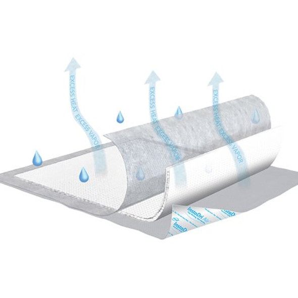 Underpad TENA® InstaDri Air™ 30 X 36 Inch Disposable Polymer Moderate Absorbency