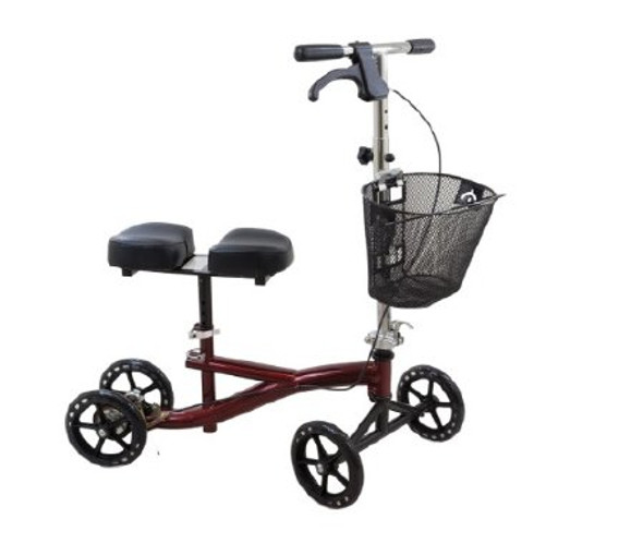 Knee Scooter Roscoe 350 lbs. Weight Capacity Burgundy Red