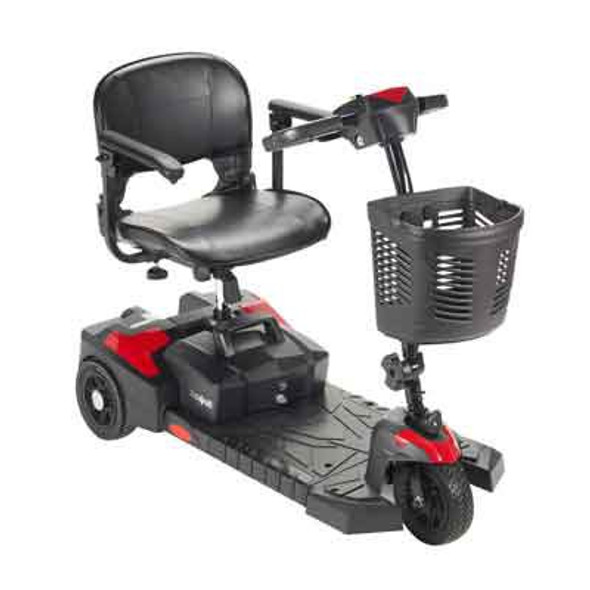 3 Wheel Electric Scooter Spitfire Scout DLX 3 300 lbs. Weight Capacity Black / Red or Blue (Interchangeable)