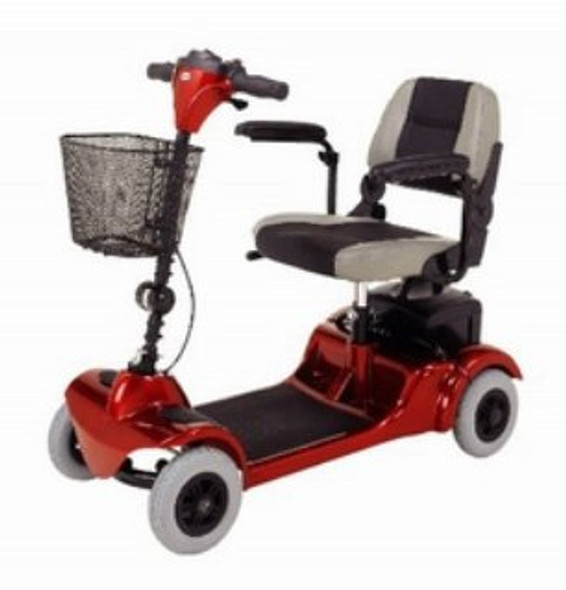 4 Wheel Electric Scooter Mini-Coupe 250 lbs. Weight Capacity Red / Blue